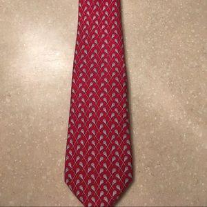 Boy's Vineyard Vines Silk Tie w/ lacrosse sticks
